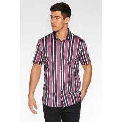 Quiz Short Sleeve Striped Shirt in Purple found on Bargain Bro UK from Quiz Clothing