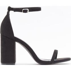 Womens Immi Skinny Strap 2 Part Block Heel - Black