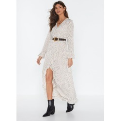 MS Ruffle Wrap Midi Tea Dress found on MODAPINS from nasty gal limited for USD $60.00