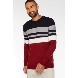 Quiz Navy & Red Crew Neck Twin Stripe Jumper found on Bargain Bro UK from Quiz Clothing