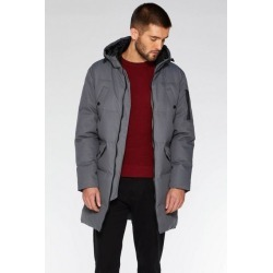 Quiz Grey Long Line Quilted Parka found on Bargain Bro UK from Quiz Clothing