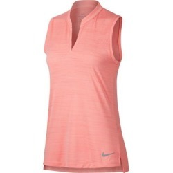 Nike Women's Zonal Cooling Jacquard Sleeveless Polo  - BRPink XL found on Bargain Bro India from golftown.com for $64.75