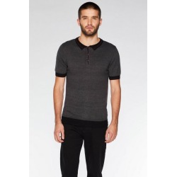Quiz Charcoal Contrast Knit Polo Shirt found on Bargain Bro UK from Quiz Clothing