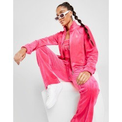 Juicy Couture Diamante Velour Full Zip Track Top - Womens - Pink found on MODAPINS from JD Sports Malaysia for USD $120.59
