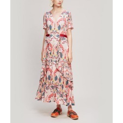 etoile de Mer Crepe V-Neck Tea Dress found on MODAPINS from Liberty.co.uk for USD $500.99