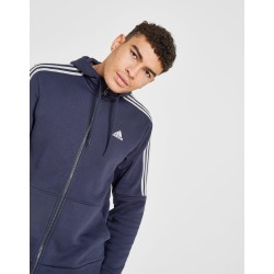 adidas Essential Full Zip Hoodie - Only at JD Australia - Navy/White