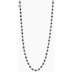 John Varvatos Beaded Stone & Silver Necklace Lead Size: one size fits all