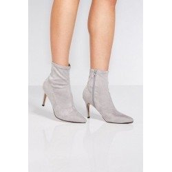 Quiz Grey Faux Suede Pointed Toe Sock Boots found on Bargain Bro UK from Quiz Clothing