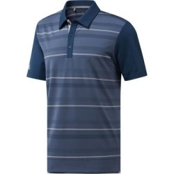 Adidas Men's Ultimate Novelty Stripe Short Sleeve Polo - Blue M found on Bargain Bro India from golftown.com for $57.14