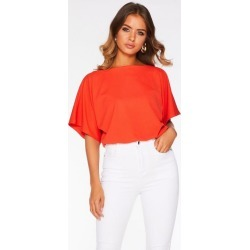 Quiz Orange Batwing Bodysuit found on MODAPINS from Quiz Clothing for USD $12.46
