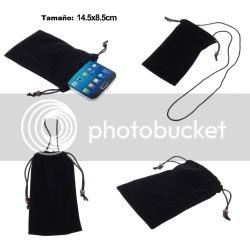 For Prestigio Multiphone Psp5455 Duo Black Case Cover Cloth Carry Bag Chain L...