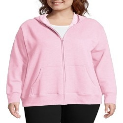 Just My Size - Just My Size Women's Plus Size Fleece Zip Hood Jacket - Walmart.com found on Bargain Bro from  for $12.65