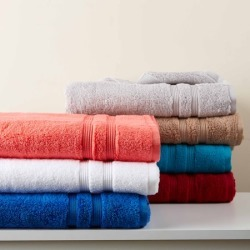 Mainstays Solid Performance Cotton Towel Set - 6 Piece Set - Walmart.com found on Bargain Bro from  for $9.18