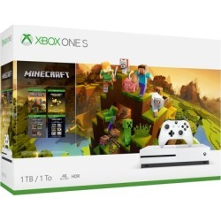 Microsoft Xbox One S 1TB Minecraft Creators Bundle, White, 234-00655 found on Bargain Bro from  for $34
