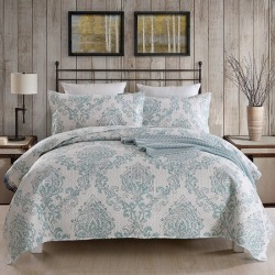 3 Piece Printed Lightweight Bedding Quilt Set- Quilt And 2 Shams, Soft & Lightweight King - Walmart.com found on Bargain Bro from  for $30.87