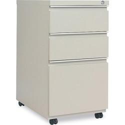 Alera 3-Drawer Mobile Pedestal File, 15-7/8w x 23d x 28-1/4h