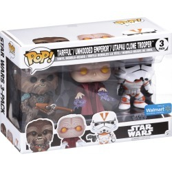 Pop!® Star Wars Tarfful™/Unhooded Emperor™/Utapau Clone Trooper™ Vinyl Bobble-Heads Variety Pack 3 ct Box, Wal-mart, Walmart.com found on Bargain Bro from  for $49.99