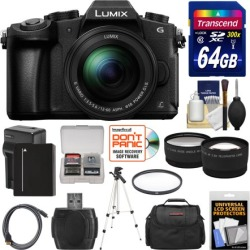 Panasonic Lumix DMC-G85 4K Wi-Fi Digital Camera & 12-60mm Lens with 64GB Card + Battery & Charger + Case + Tripod + Filter + Tele & Wide Lens Kit found on Bargain Bro from  for $798