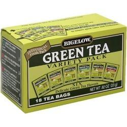 Bigelow Six Varieties Green Tea Bags, 18ct (Pack of 6)