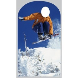 Advanced Graphics Life-Size Stand-Ins Snowboarder Cardboard Stand-Up