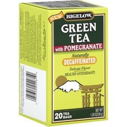 Bigelow Naturally Decaffeinated Green Tea With Pomegranate, 20ct (Pack of 6)