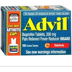 Advil: Ibuprofen Tablets, 200 Mg Pain Reliever/Fever Reducer (Nsaid) Advil, 150 Ea