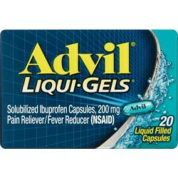 Advil Liqui-Gels Pain Reliever / Fever Reducer (Ibuprofen), 200 mg 20 count