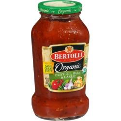 Bertolli ® Organic Olive Oil, Basil & Garlic Tomato Sauce 24 oz. Jar