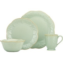 Lenox French Perle Ice Blue 4 Piece Place Setting
