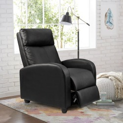 Walnew Home Theater Recliner with Padded Seat and Backrest, Black Faux Leather itemprop= name Walnew Home Theater Recliner with Padded Seat and Backrest, Black Faux Leather found on Bargain Bro from  for $19