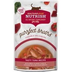 (3 Pack) Rachael Ray Nutrish Purrfect Broths Grain Free Tasty Tuna Recipe All Natural Complement, 1.4 oz found on Bargain Bro from  for $2.8