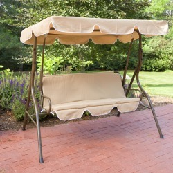 Coral Coast Ginger Cove 2 Person Adjustable Tilt Metal Canopy Porch Swing- Light Bronze itemprop= name Coral Coast Ginger Cove 2 Person Adjustable Tilt Metal Canopy Porch Swing- Light Bronze found on Bargain Bro from  for $159.99