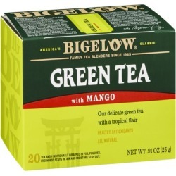 Bigelow Green Tea with Mango, 20 CT (Pack of 6)