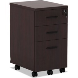 Alera Valencia Series 3-Drawer Mobile Pedestal File Cabinet