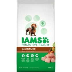 Iams Proactive Health Adult Dachshund Dry Dog Food, Chicken Flavor, 7 Pound Bag found on Bargain Bro from  for $22.44