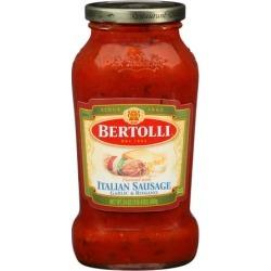 Bertolli Italian Sausage Garlic & Romano Sauce, 24.0 OZ