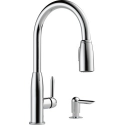 Peerless Core Kitchen Single Handle Pull-Down Faucet in Chrome P88103LF-SD-L itemprop= name Peerless Core Kitchen Single Handle Pull-Down Faucet in Chrome P88103LF-SD-L found on Bargain Bro from  for $79.99