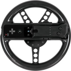 DreamGear Turbo Wheel - Black (Wii)