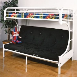 Acme Furniture - Eclipse Twin Over Full Futon Bunk Bed, White