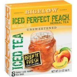 Bigelow ® Iced Perfect Peach ® Herbal Tea Bags 8 ct Box