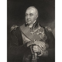 Admiral Edward Pellew 1St Viscount Exmouth 1757 To 1833 British Naval Officer And Admiral Engraved By W Holl After W Owen From The Book National Portrait Gallery Volume Iii Published C 1835 Canvas Art