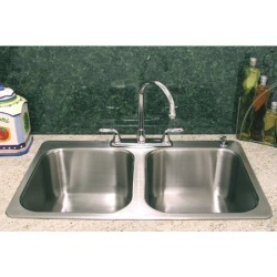 A-Line by Advance Tabco Double Bowl Drop-In Kitchen Sink