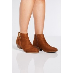 Tan Ring Pull Ankle Boots found on Bargain Bro UK from Quiz Clothing