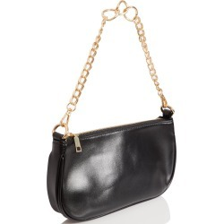 Black Faux Leather Chain Shoulder Bag found on Bargain Bro UK from Quiz Clothing