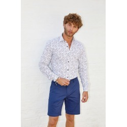 White Floral Print Long Sleeve Shirt found on Bargain Bro UK from Quiz Clothing