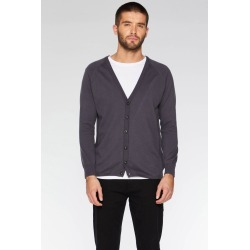 Charcoal Ribbed Elbow and Side Panel Cardigan found on Bargain Bro UK from Quiz Clothing