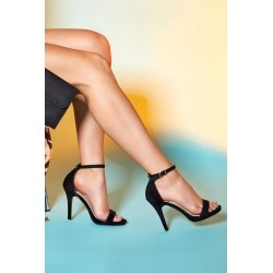 Black Barely There High Heel Sandals found on Bargain Bro UK from Quiz Clothing