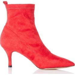 Red Faux Suede Sock Ankle Boots found on Bargain Bro UK from Quiz Clothing