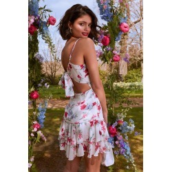 White Chiffon Floral Dress found on MODAPINS from Quiz Clothing for USD $46.63
