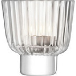 Pleat Tealight Holder Clear found on Bargain Bro Philippines from Arnotts UK/IE for $22.88